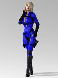 Sapphire Huntress 002 by 0WickedRaven0