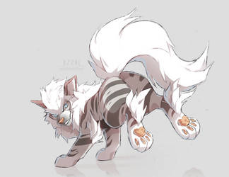 sketch | Leo the Arcanine by azzai