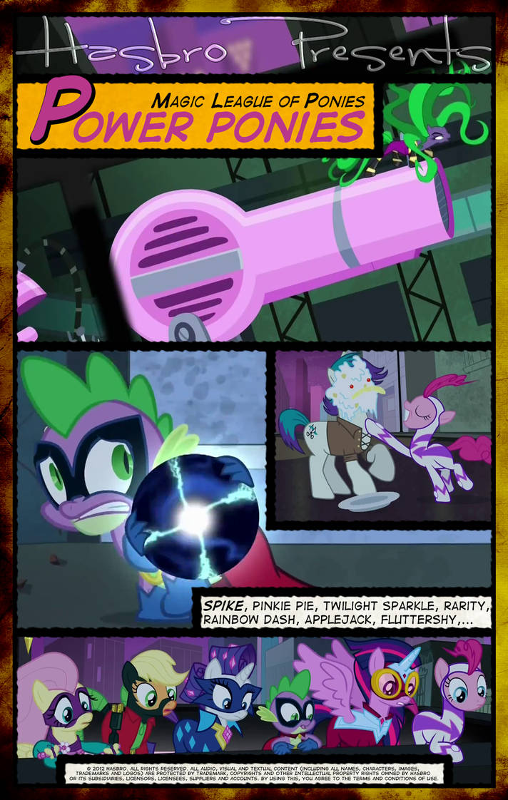 Mlp Power Ponies Movie Poster By Pims1978 On Deviantart