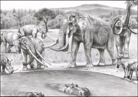 Prehistoric Safari : Pliocene Southern Europe by Jagroar