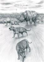 Prehistoric Safari :Eocene's Thunder Beast charges by Jagroar