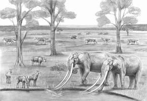Prehistoric Safari : The Pliocene Greek fauna by Jagroar