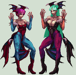 MORRIGAN x LILITH KOF XII by xXASMODEOXx