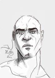 Random head smartphone doodle  by Zappan