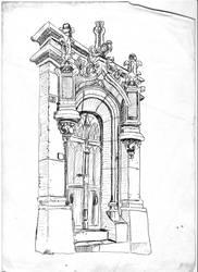 Door in paris by Zappan