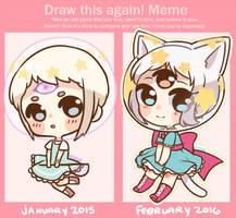Draw This Again: Taiko by pikaxiu