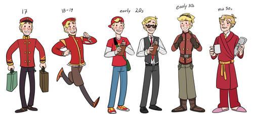 Buddy through the years by Kattinx