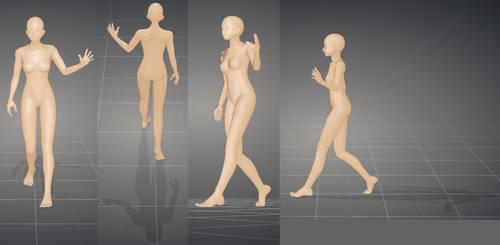 Woman Walking by inubasket