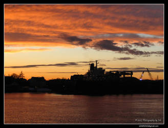 Huge Ship and an Amazing Sky by PhotographyByIsh