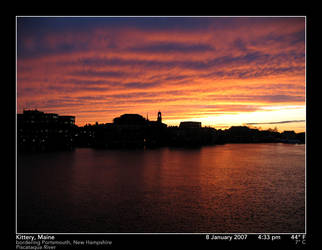 Another Piscataqua Sunset, 2 by PhotographyByIsh