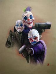 The Dark Knight:Clowns by 3yen
