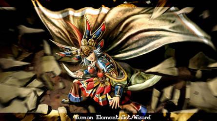 Human_Wizard Elementalist by 0Khan