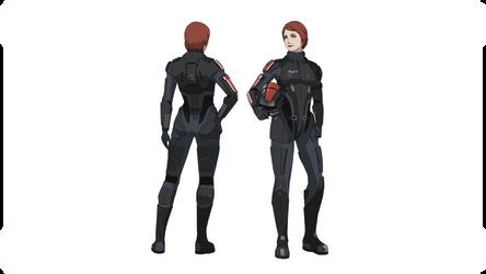 ME1:Commander Shepard (Medium N7 Armor) by Wei723