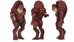 ME1:Urdnot Wrex (Heavy Mercenary Armor) by Wei723