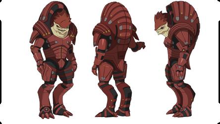 ME1:Urdnot Wrex (Heavy Mercenary Armor) by Wei723