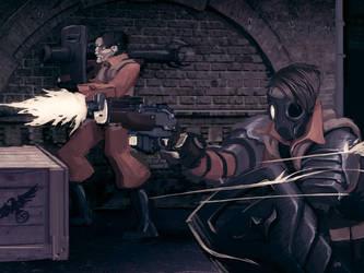 Close quarter gunfight by 40-Kun