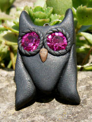 Owl charm by Rosselanor