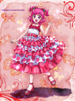 Blueberry tiered ruffle dress by su-ga-me