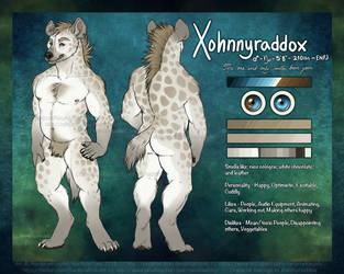XohnnyRaddox Ref Sheet by Rainbow-Foxy