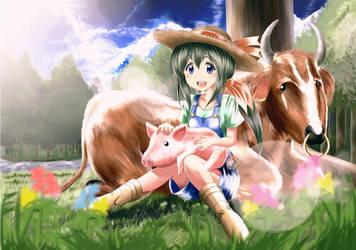 A girl in the ranch by Kuroda-Ariake