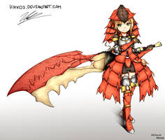 Rathalos Armour [Monster Hunter] by HOAIartworks