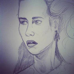 Sarah sketch wip by rebecca-w