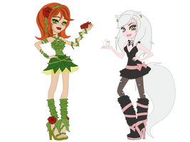 kitty and rossy monster high by Izumii89