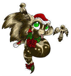 Cold Blooded Christmas - Snake by Daffupanda