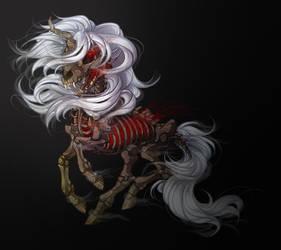 The Black Unicorn - School art by Daffupanda