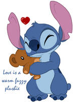 Stitch - Fuzzy plushie love by Daffupanda
