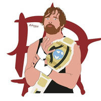 Dean Ambrose by MalouSloth