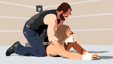 Dean Ambrose vs. Dolph Ziggler submission by MalouSloth