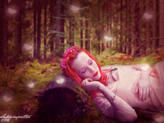 Sleeping in Pink by sakurapotter