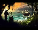 Danger in Paradise by DerMonkey