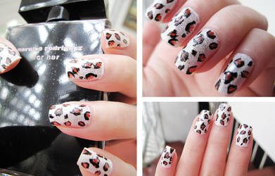 Snow Leopard Nails by hinnie