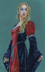 Woman in Long Dress by mikey-madness