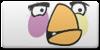 Angry Birds white button by vyndo