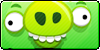 Angry Birds pig button by vyndo