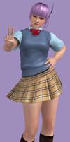 Ayane Schoolgirl DLC by Sticklove