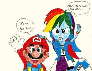 Mario and Rainbow Dash by PhantomMasterRamos89