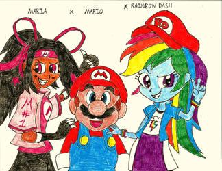 Maria Mario Rainbow Dash  by PhantomMasterRamos89