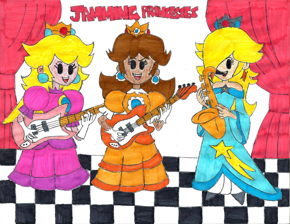 Jamming Princesses by PhantomMasterRamos89