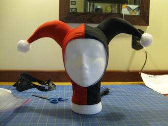 extra-cute Harley Quinn hat by hollymessinger