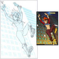 SKETCH - full design for Viki by comicsINC