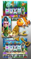 Mer-money slot design by comicsINC