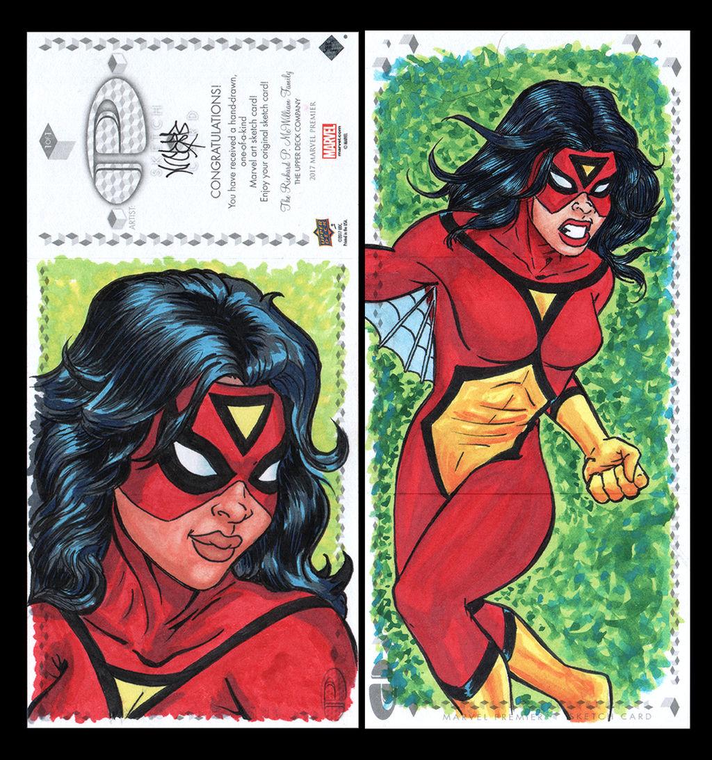 Spiderwoman Marvel premiere sketch card by comicsINC