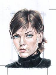 Ezri Dax Original art Sketchcard by comicsINC
