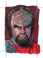 Worf official licensed Sketch card by comicsINC