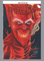 Amazing Spider-man 800 sketch cover Red Goblin by comicsINC