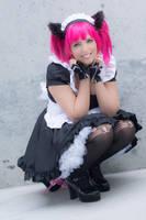 Catgirl Maid - Fanime 2015 by PinkNekogeek